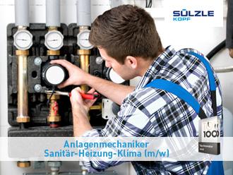 Ausbildung zum Anlagenmechaniker Sanitär, Heizung und Klima