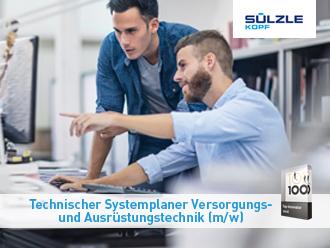 Ausbildung zum technischen Systemplaner Versorgungs- und Ausrüstungstechnik