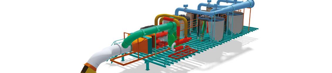 bestehende Biofilteranlage zur Entfernung von Geruchstoffen und Lösemitteln